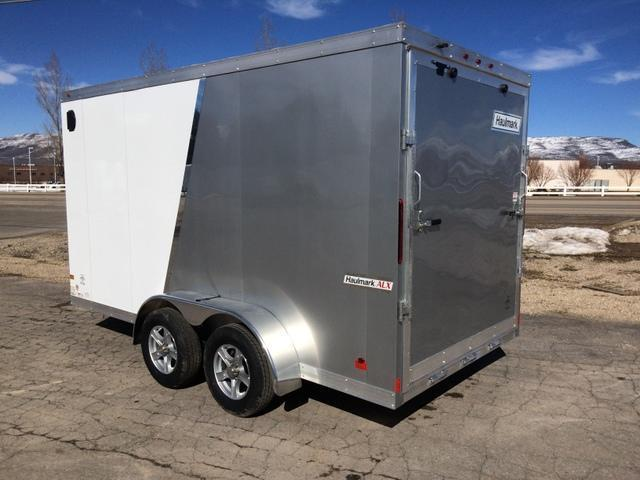 2017 Haulmark Aluminum 7 X 14 Enclosed Ramp Door