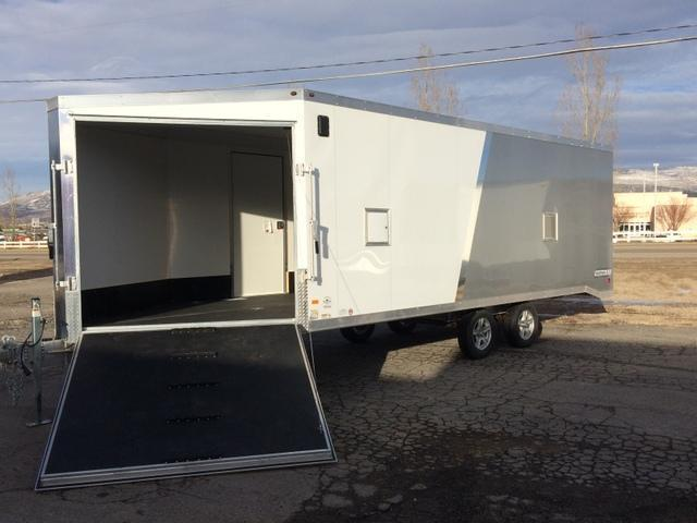 snowmobile mountain west trailer sales flatbed  cargo trailers  sale  heber city ut