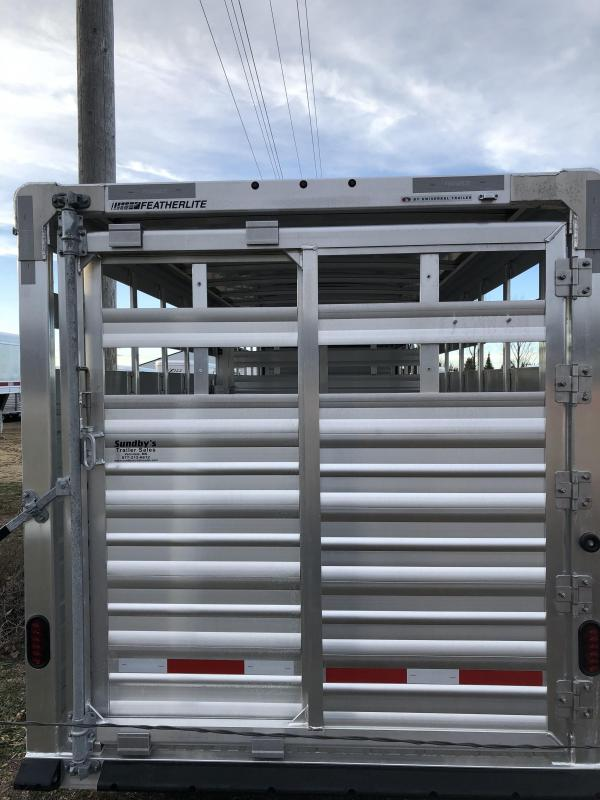 2018 Featherlite 8117 24' Stock Trailer