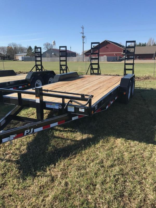 "2017 PJ 18'X6"" 7K AXLES 2' DOVETAIL W/5' FOLD UP RAMP"
