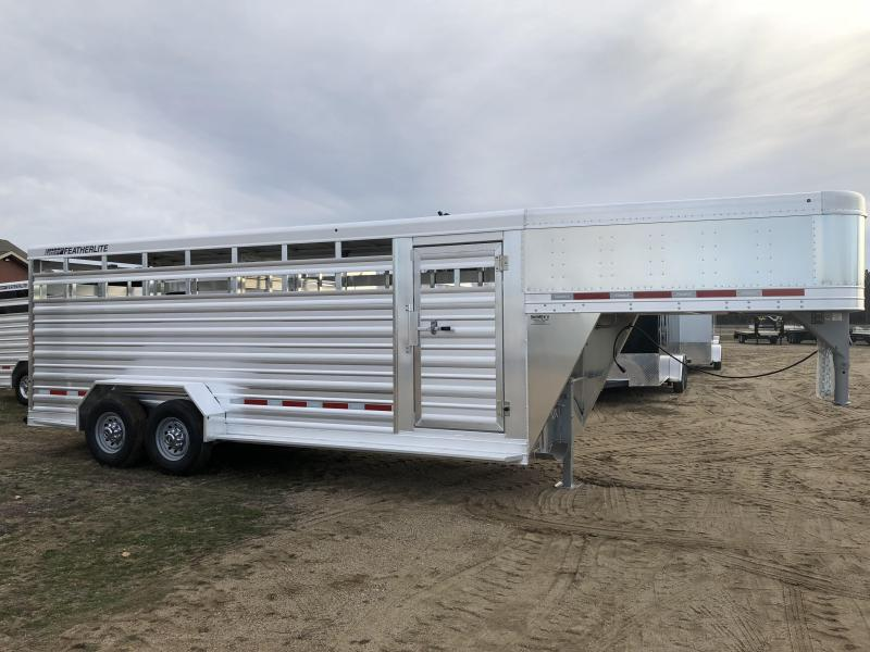 2018 Featherlite 8117 20' Stock Trailer