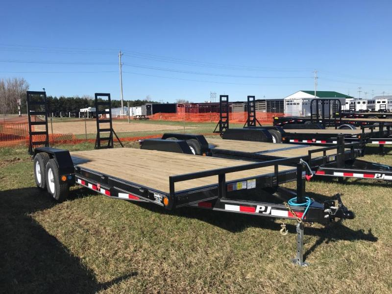 "2017 PJ 20'X5"" 5.2K AXLES 2' DOVETAIL W/2 FOLD UP RAMPS"
