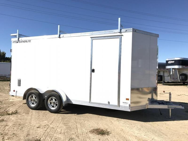 2018 FEATHERLITE 1620 16' ENCLOSED TRAILER