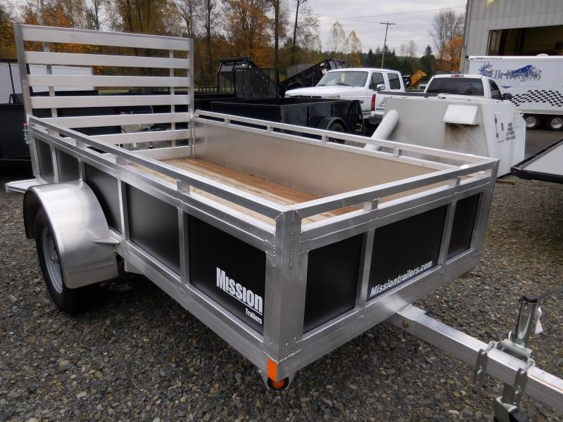 2017 Mission 5x10 SSR Utility Trailer with Rear Landscape Ramp