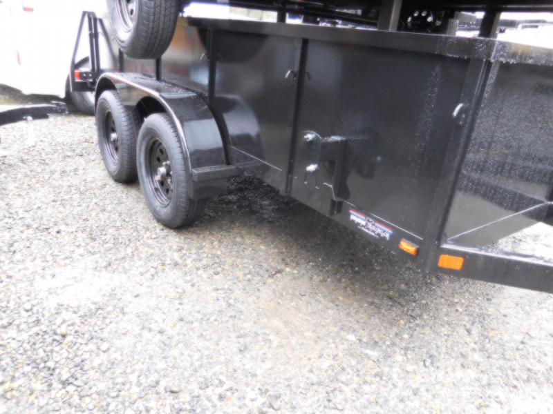 2018 Iron Eagle Voyager 6x12 Tandem Axle Split Tailgate Utility Trailer