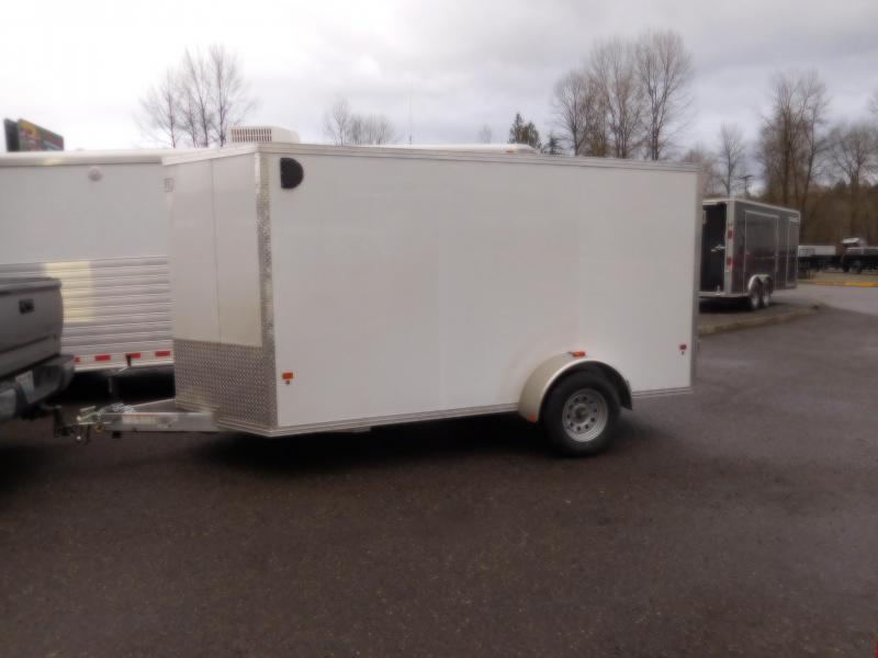 2018 EZ Hauler 6x12 All Aluminum Enclosed Cargo Trailer with Rear Barn Doors