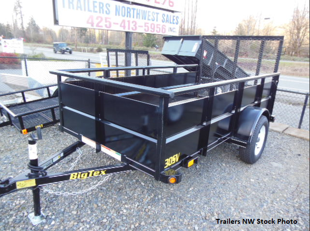 2017 Big Tex 30SV 5x10 Utility Trailer with Landscape Ramp Gate
