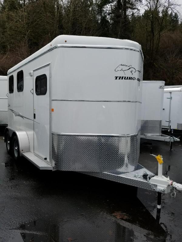 2018 Thuro-Bilt Liberty w/ Double Rear Doors Slant 2-Horse Trailer & 2018 Thuro-Bilt Liberty w/ Double Rear Doors Slant 2-Horse Trailer ...