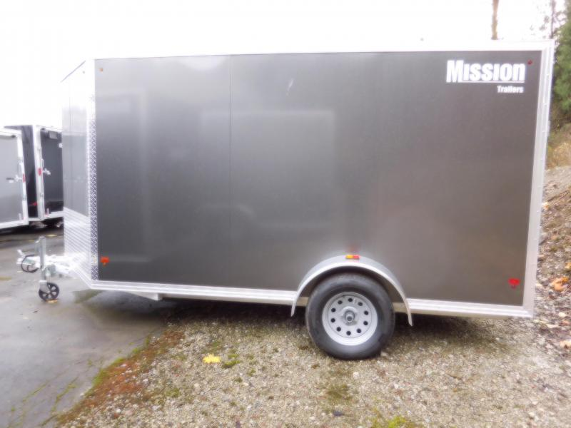 2017 Mission MEC 6x12 Cargo Trailer with Rear Ramp