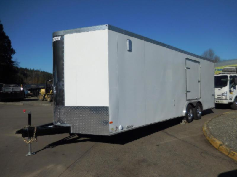 Used Custom 2016 Haulmark 8x24 Enclosed Cargo Car Hauler Trailer