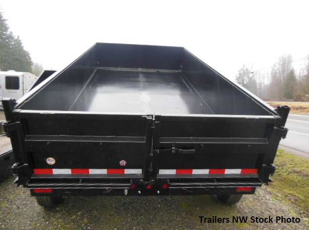 2018 Big Tex 7x14 14LX Dump Trailer with Rear 3-Way Combo Gate