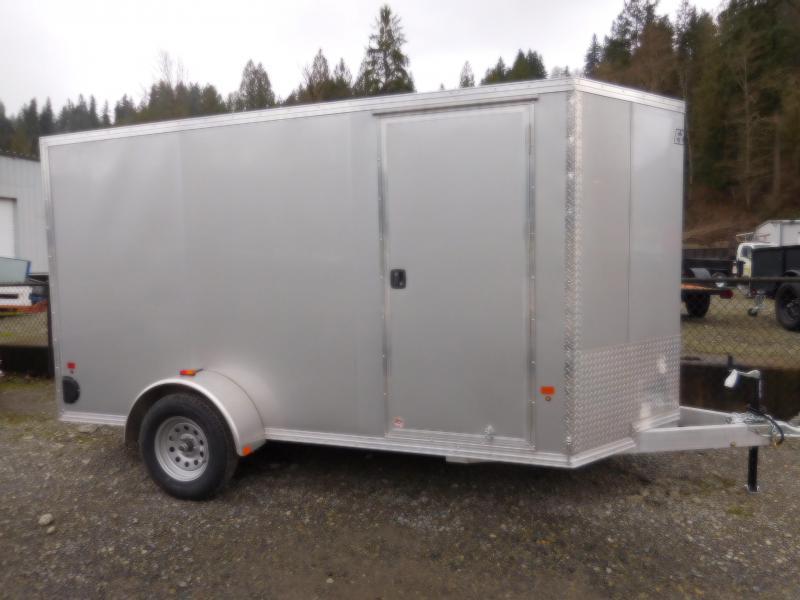 2018 EZ Hauler 6x12 All Aluminum Enclosed Cargo Trailer with Rear Ramp