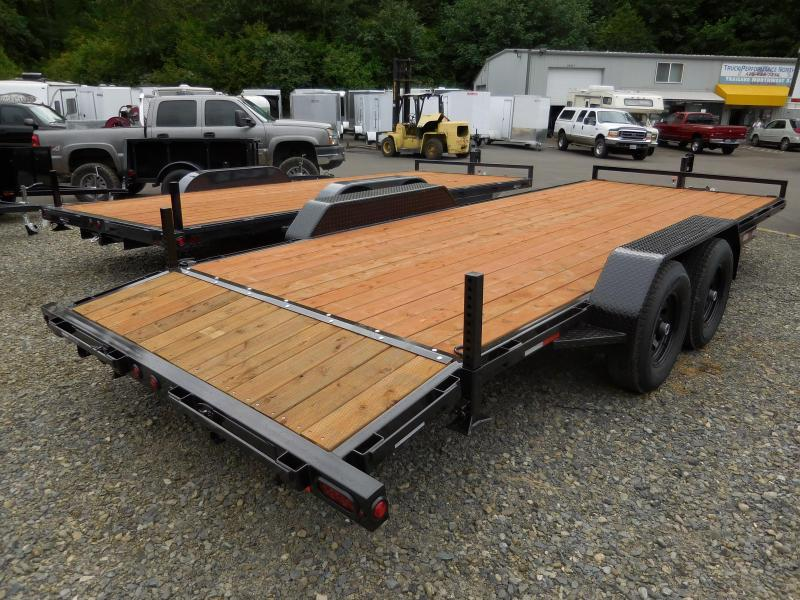 2017 Iron Eagle 7x18 10k Flat Bed Trailer