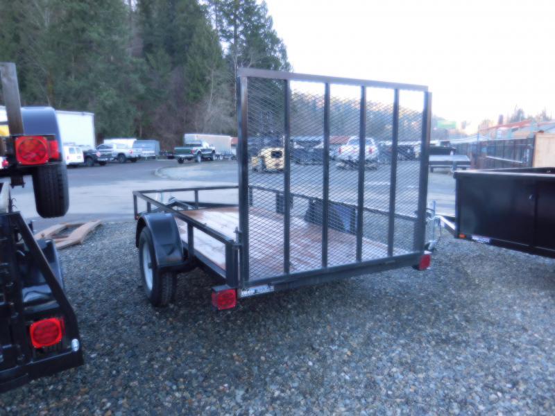 Used 2013 Iron Eagle Economax 5x10 Flatbed Trailer with Rear Landscape Gate