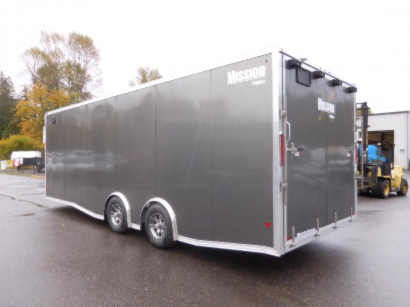 2017 Mission 8x24 Enclosed Car Hauler Trailer with Rear Ramp