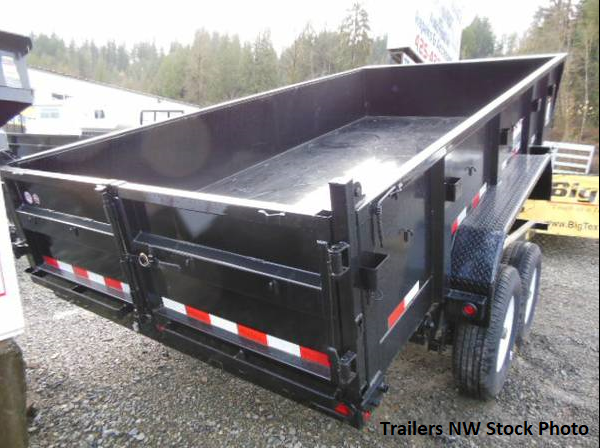 2018 Big Tex 7x14 14LX Dump Trailer with 3-Way Combo Gate