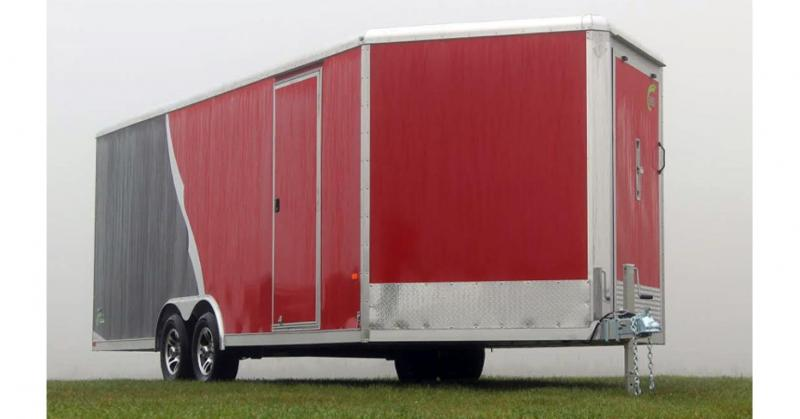 2018 NEO Trailers NCVR Round Top Combo Auto Trailer