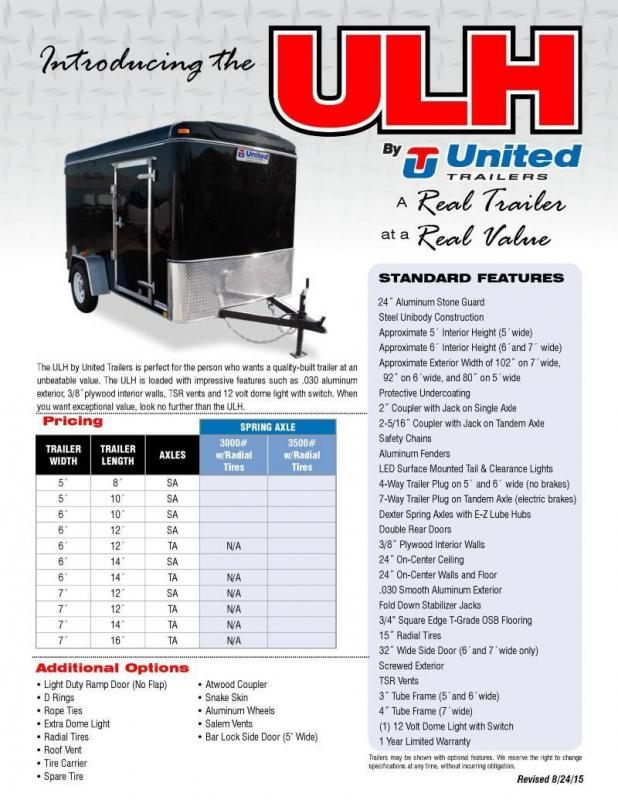 2018 United Trailers ULH Series Enclosed Cargo Trailer