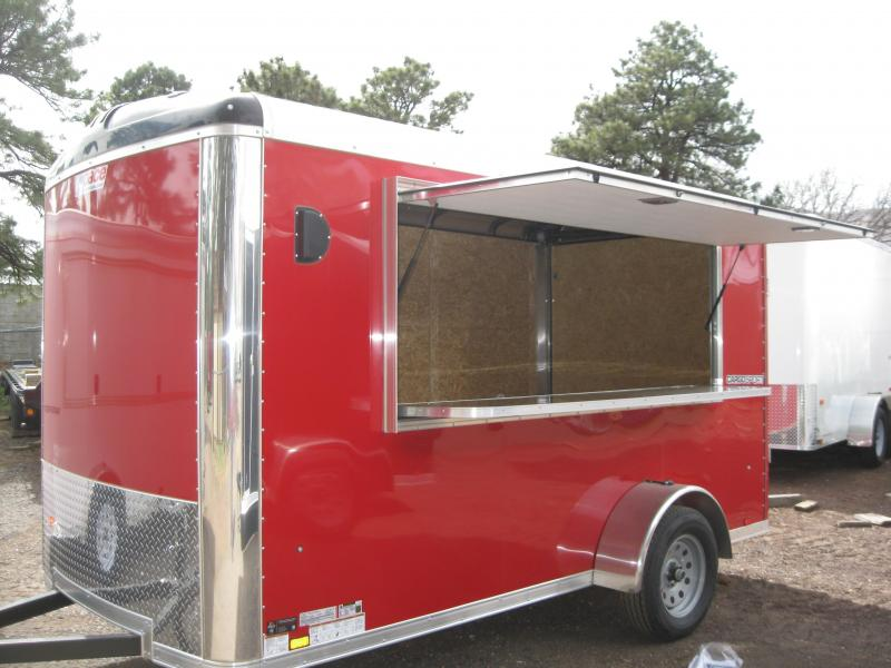 6x12 Enclosed with 8' Concession window and table