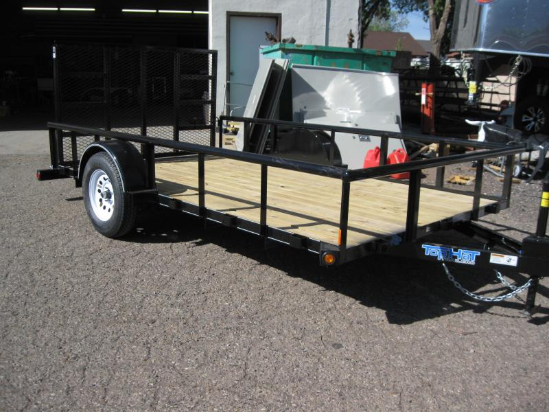77X12 Motorcycle Pipe Rail Utility Trailer