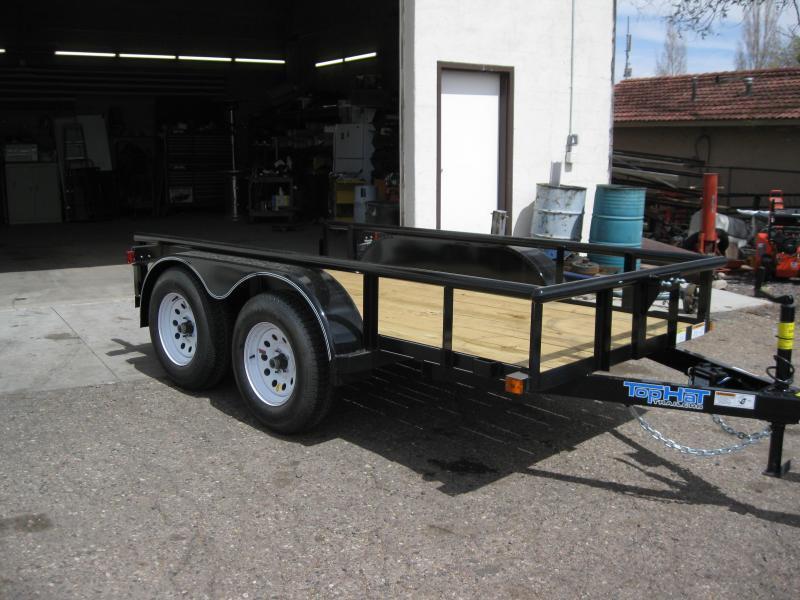 5x10 Tandem Axle Angle Rail Utility Trailer