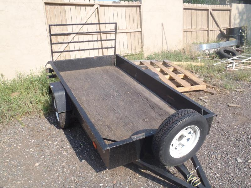 4X8 Utility Flatbed Trailer with Ramp Gate