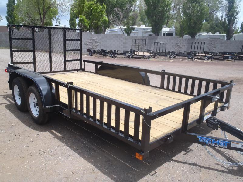 83X16 Tandem Axle Quad Ramps and Ramp Gate Utility Trailer