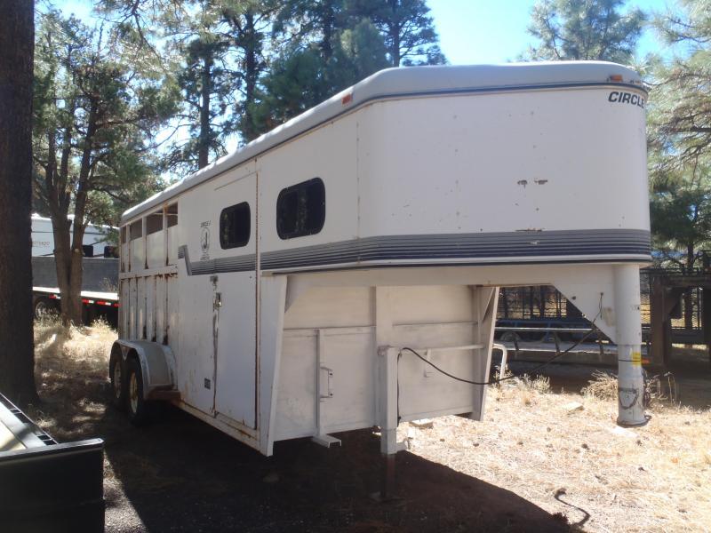 USED Circle J Trailers 3 Horse Slant Gooseneck Horse Trailer