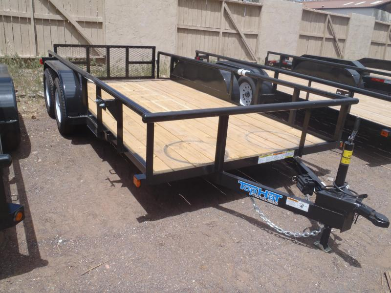 77X14 Tandem Axle with 2' Ramp Gate