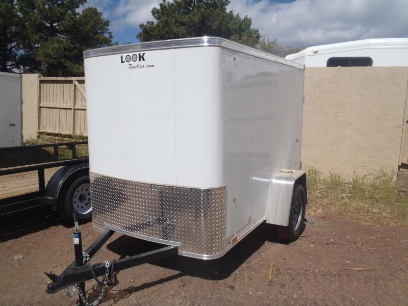 5x8 ST Enclosed Trailer Barn Doors and Side Door