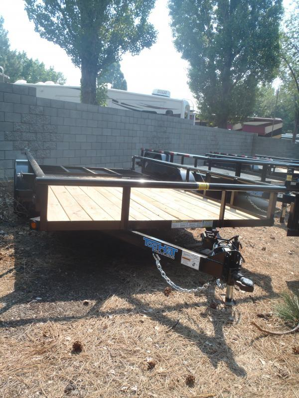 83X14 Tandem Axle Pipe Rail with Ramp Gate Utility Trailer