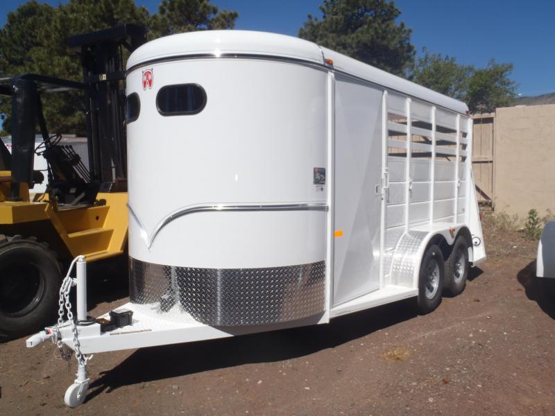 2 Horse Slant Wrangler Horse Trailer
