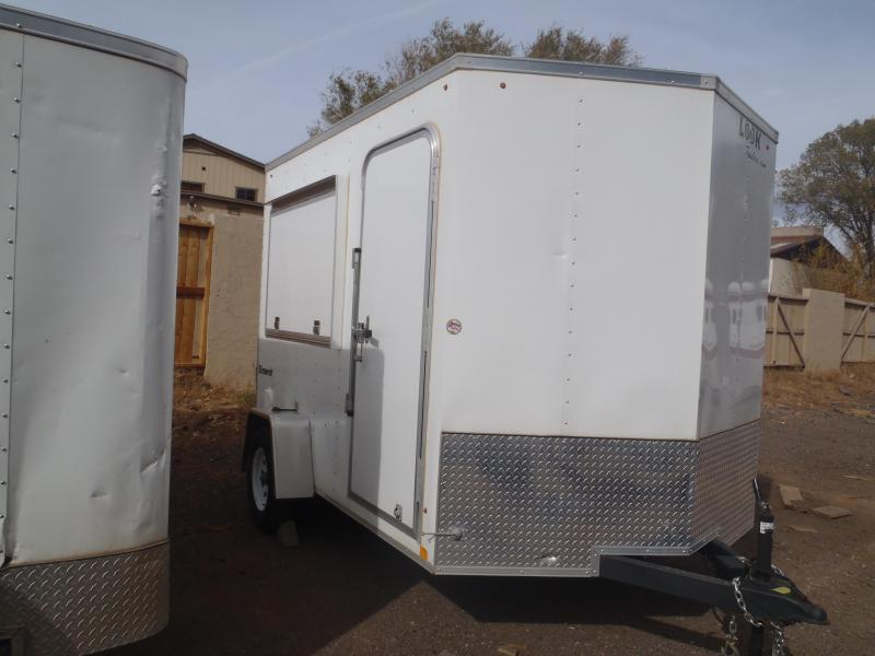 7x10 ST Concession Window Enclosed Trailer Ramp Door