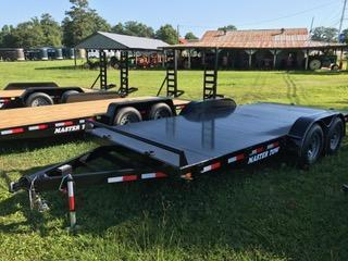 "2019 Master Tow 82""x18' 10k Car Hauler Equipment Trailer"