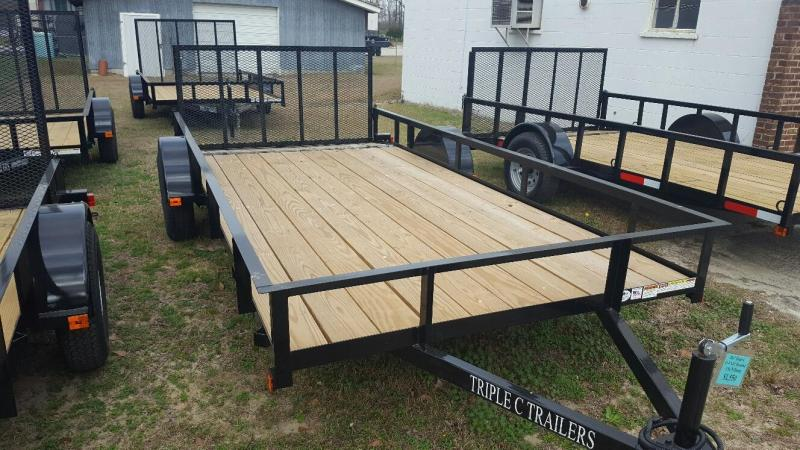 "2017 Triple C 6'-4""x14' Dovetail Utility Trailer"