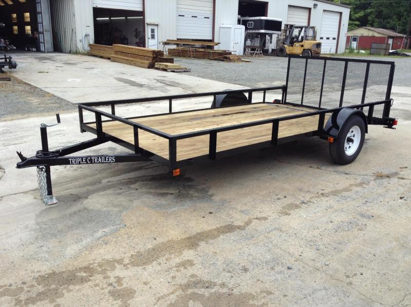 "2017 Triple C 6'-10""x14' Dovetail Utility Trailer"