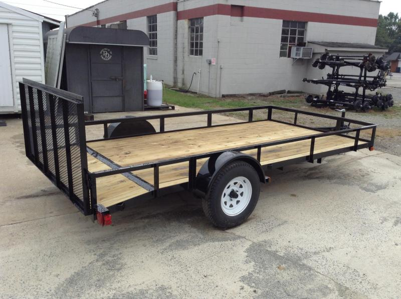 "2019 Triple C 6'-10""x14' Dovetail Utility Trailer"