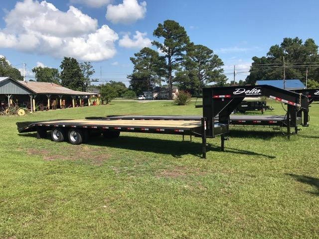 2018 Delta Manufacturing 32ft Tandem Dually Equipment Trailer