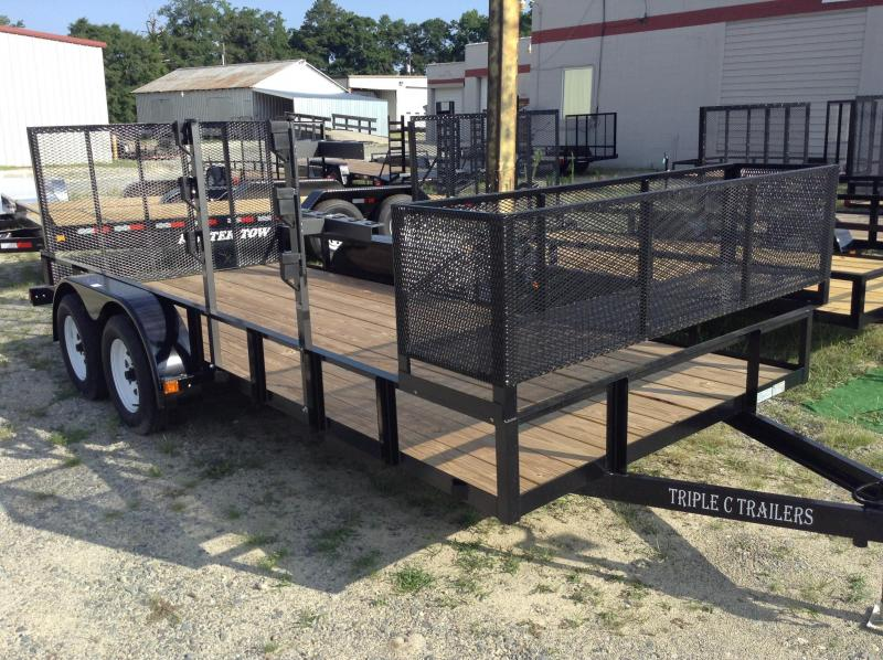 "2016 Triple C 6'-4""x16' Utility Trailer With Basket"