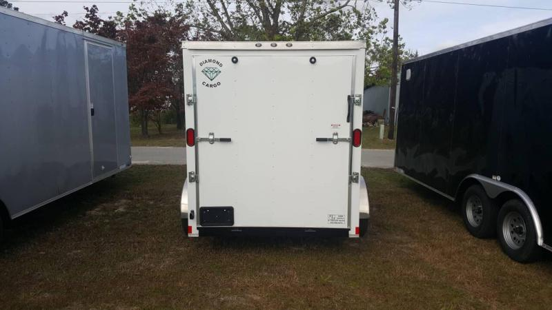 2019 Diamond Cargo 6x12 Tandem Enclosed Cargo Trailer