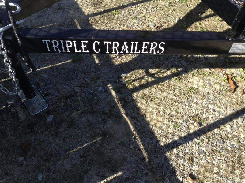 "2017 Triple C 6'-4""x12'x18""Mesh Side Utility Trailer"