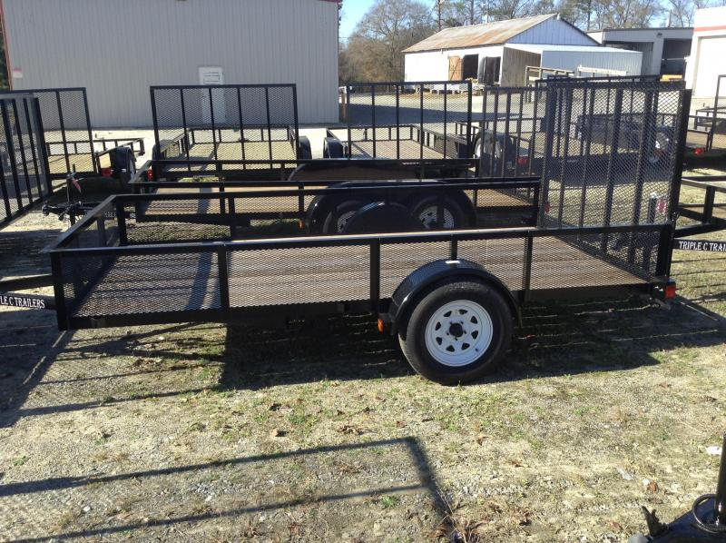 "2017 Triple C 6'-4""x12'x18""Mesh Side Utility Trailer"