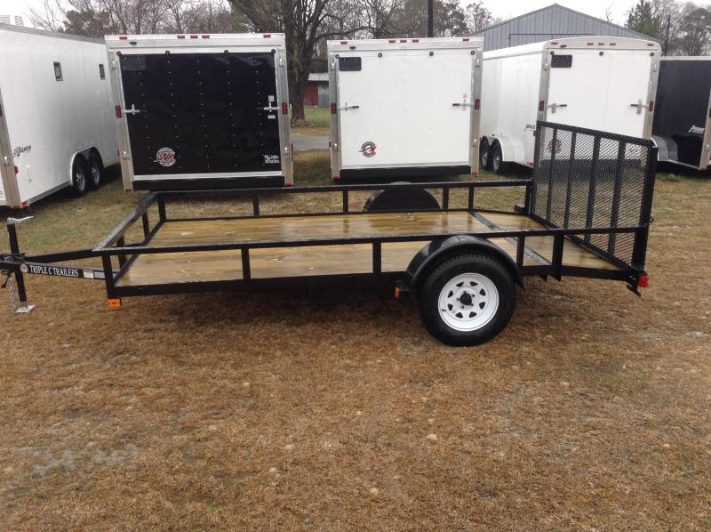 "2016 Triple C 6'10""x12' Utility Trailer W/Dovetail"