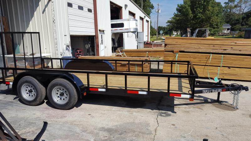 "2017 Triple C 6'-4""x16' HD Series Utility Trailer"