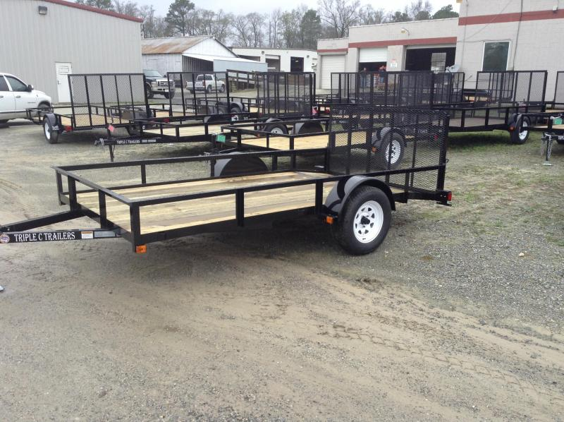 "2017 Triple C 6'4""x12' Utility Trailer W/Dovetail"