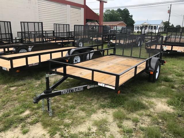 "2019 Triple C 6'4""x12' Utility Trailer W/Dovetail"