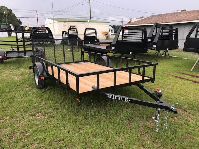 "2019 Triple C 6'-4""x12' HD Dovetail Utility Trailer"