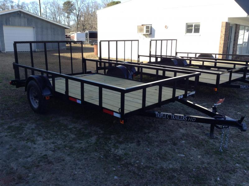 "2017 Triple C 6'-4""x12' HD Dovetail Utility Trailer"