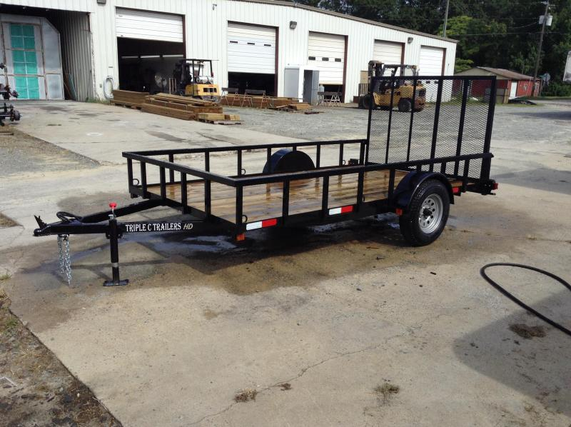 "2017 Triple C 6'4""x12' HD Series Utility Trailer"