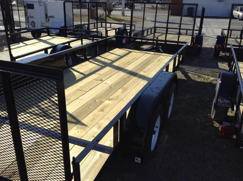 "2019 Triple C 6'4""x16' Utility Trailer W/Dovetail"